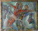 """Картина  """"И Бог благослови жената"""" на Георги Кьосев"""