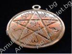 Amulet pentagram on the ground